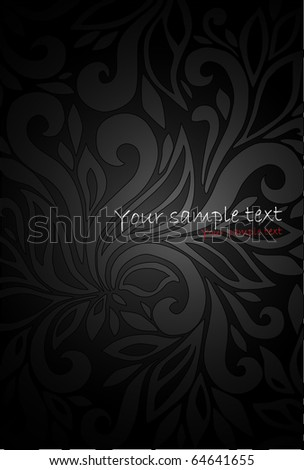 Black Seamless floral Pattern - stock vector