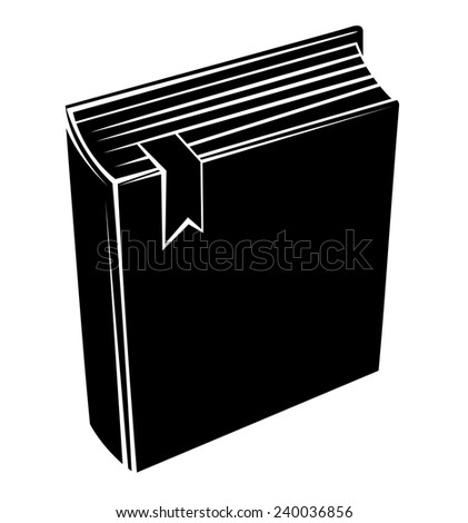 Black Silhouette Of Book