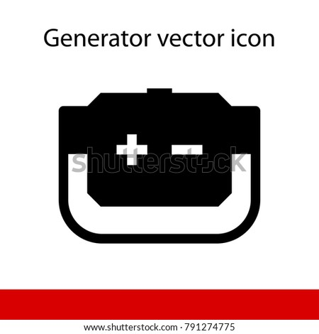 Black silhouette generator plus minus on stock photo photo vector black silhouette of generator with plus and minus on white background voltagebd Image collections