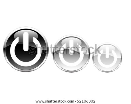 Black silver buttons - stock vector