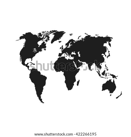 Black similar vector political world map stock vector 422266195 black similar vector political world map world map vector world map flat world gumiabroncs Image collections