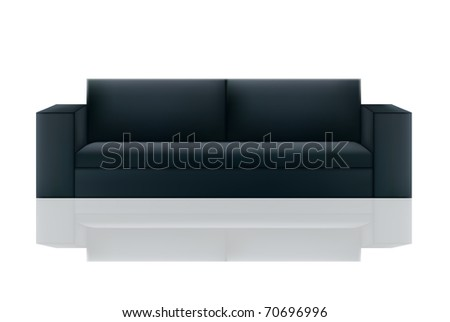 Black sofa on a isolated background,vector - stock vector