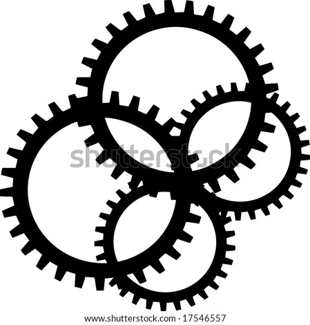 Black sprocket on white background - stock vector