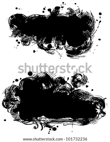Black stains - stock vector