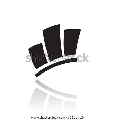 Black stats icon isolated on white - stock vector