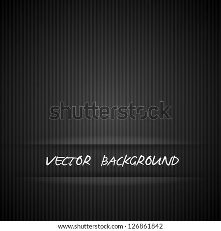 Black strips background vector illustration - stock vector