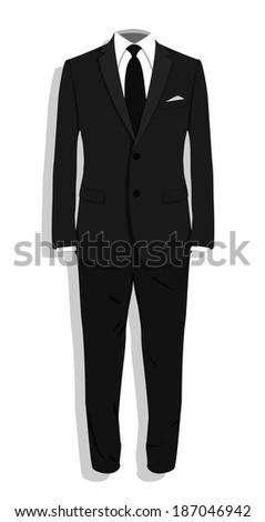 Black suit - stock vector