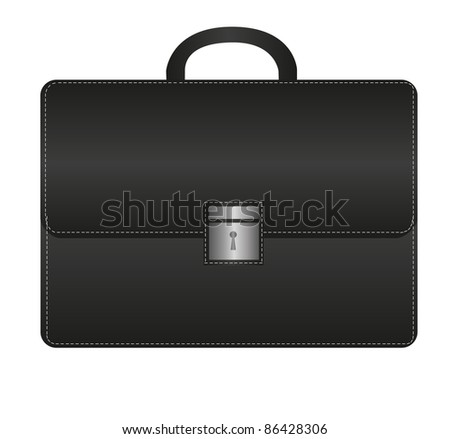 black suitcase isolated over white background. vector