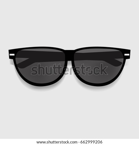 Black Sunglasses Graphic Illustration Vector
