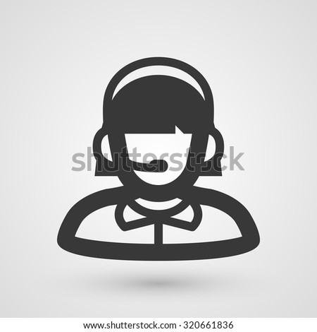 Black support icon. Symbol about shopping concept. - stock vector
