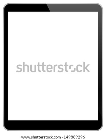Black Tablet Pc With Blank Screen Similar To iPad Air