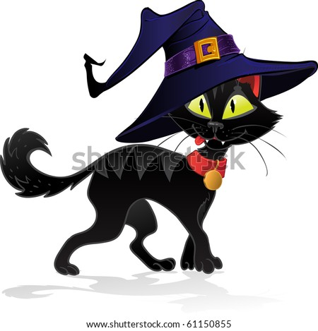 Halloween Black Cat Stock Images, Royalty-Free Images & Vectors ...