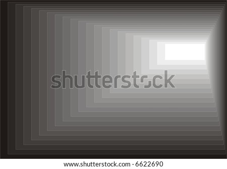 Black texture with white way out - stock vector