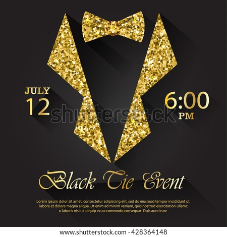 Black tie event invitation vector illustration stock vector royalty black tie event invitation vector illustration stopboris Gallery