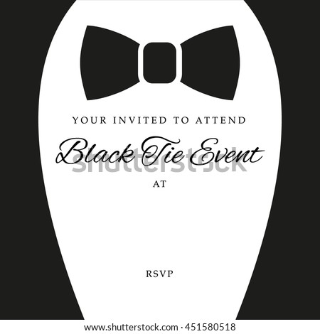 Black tie event invite template vector stock vector 2018 451580518 black tie event invite template vector stock vector 2018 451580518 shutterstock stopboris Images