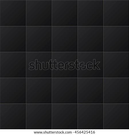 Black tiles vector texture. - stock vector