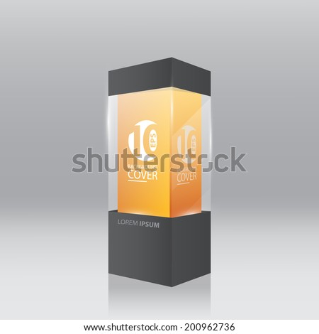 Black trade show panel, booth. - stock vector