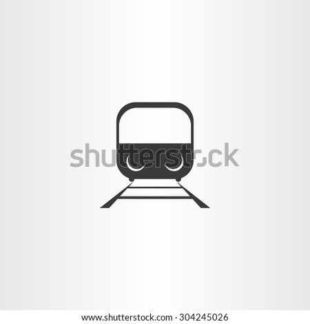 black train icon vector design passenger - stock vector