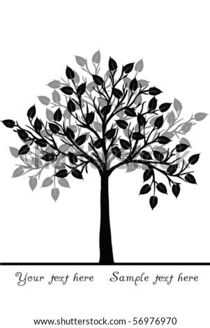 Black tree - stock vector