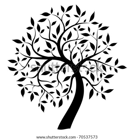 Tree Of Life Clip Art Black And White Black Tree Stock Vecto...