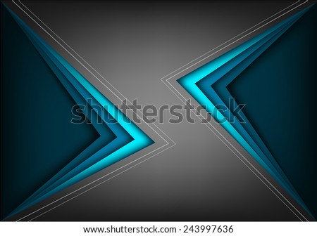 Black vector background with blue bright angle line overlap layer space for text and message modern artwork design - stock vector