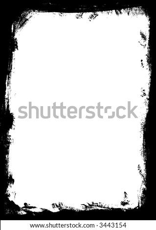 Black Vector Border (fully transparent for overlays etc)