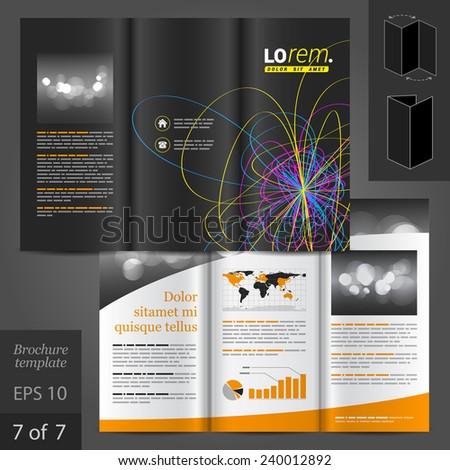 black vector creative brochure template design stock vector