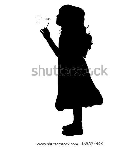 Face Blowing Flowers Silhouette Stock Images, Royalty-Free ...