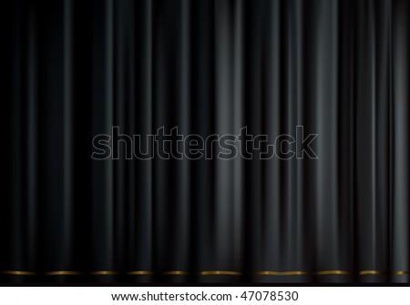 Black velvet, deep black background, mesh - stock vector