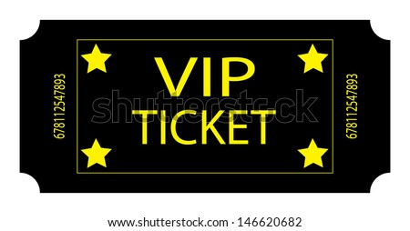 Black VIP Ticket. Vector - stock vector