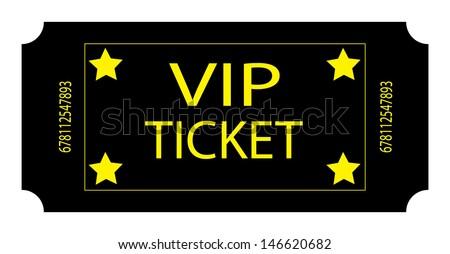 Black VIP Ticket. Vector - stock vector