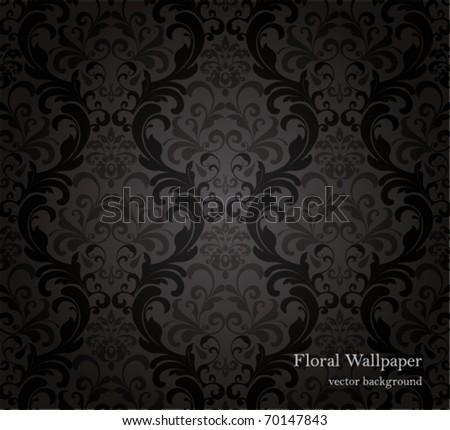 Black Wallpaper. - stock vector