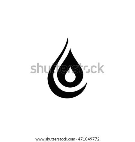 Black Water Drop Icon Water Drop Stock Vector 471049772 Shutterstock