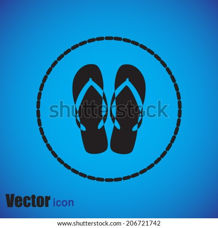 Black web icon on a blue background - stock vector
