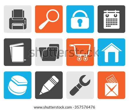 Black website, internet and computer icons - vector icon set