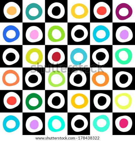 Black, white and color mosaic geometric background for your web design - stock vector