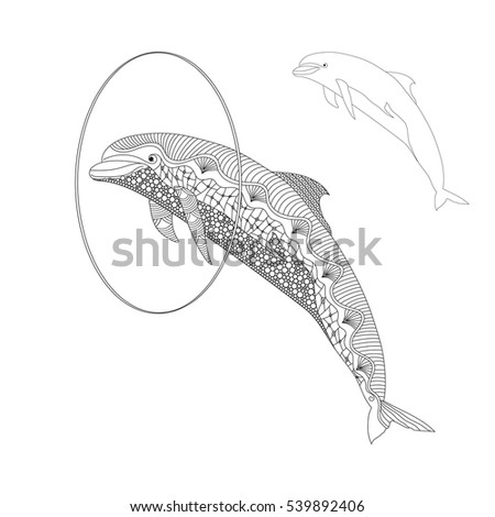 dolphin coloring pages eagle graphic emblem isolated on white stock vector 1891
