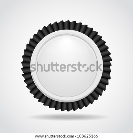 Black & white label - stock vector