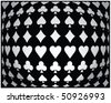 Black-white seamless poker background - stock vector