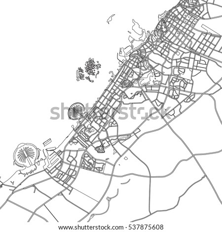 dubai map uae www Map of United Arab Emirates black white vector map dubai uae stock vector 537875608 shutterstock