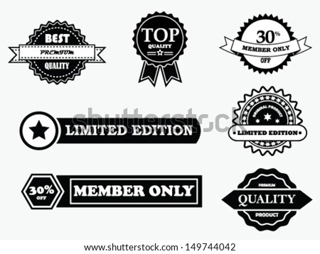 Black & White Vintage - stock vector