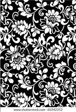 black&white  wallpaper vector design for background - stock vector