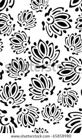 Black - white wallpaper vector design for background - stock vector