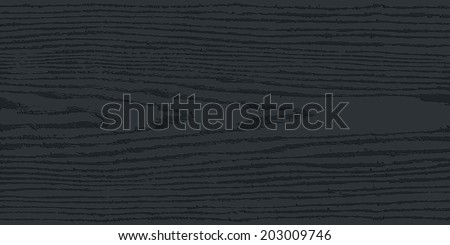 Black wood texture background. Blank realistic plank with annual years circles. Empty natural pattern swatch template. Backdrop size rectangular format. Vector illustration design elements in 8 eps - stock vector