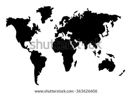 Planet silhouette stock images royalty free images vectors black world map silhouette vector gumiabroncs Images