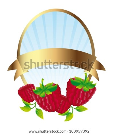 blackberries label isolated over white background. vector - stock vector