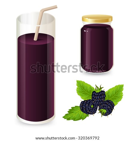 Blackberry jam and juice.
