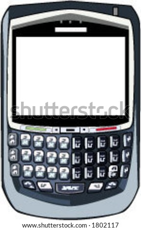 Blackberry - Personal Communication Device - Email - PDA Vector - stock vector