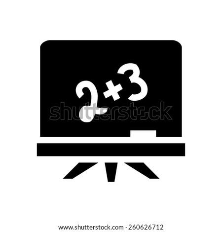 Blackboard icon - stock vector
