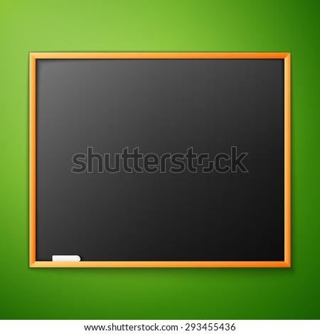 blackboard on the green wall, excellent vector illustration, EPS 10 - stock vector